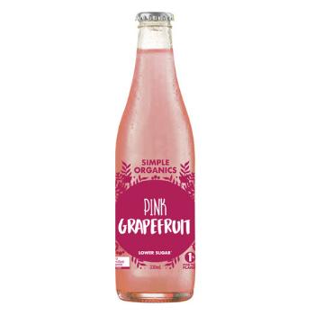 Simple Organics Pink Grapefruit 12 X 330ml Glass - Simple-Pink-grapefruit-350x350