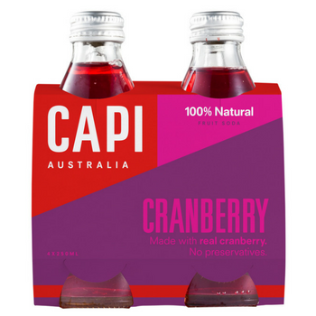 Capi Cranberry Sparkling 6 X 4PK 250ml Glass - image-118-350x350