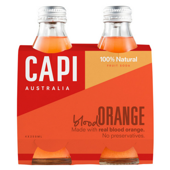 Capi Blood Orange Sparkling 6 X 4PK 250ml Glass - image-119-350x350