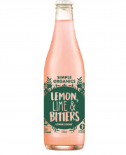 Simple Organic Lemon Lime Bitters 12 X 330ml Glass - image-3-180x221