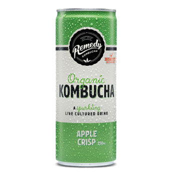 Remedy Kombucha Apple Crisp 24 X 250ml Cans - Remedy-can-apple-350x350