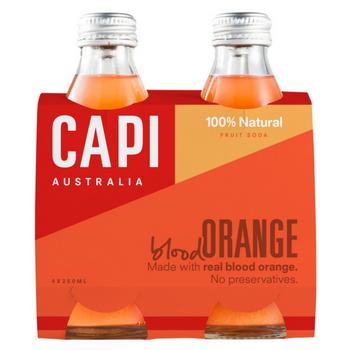 Capi Blood Orange Sparkling 6 X 4PK 250ml Glass - Capi-Blood-Orange-4-pack-CP77-2