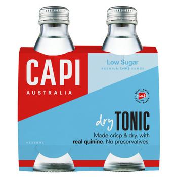 Capi Dry Tonic 6 X 4PK 250ml Glass - Capi-Dry-Tonic-4-pack-CP84-2