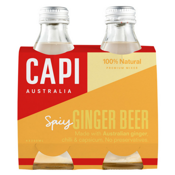Capi Ginger Beer 6 X 4PK 250ml Glass - Capi-Ginger-Beer-4-pack-CP80-2