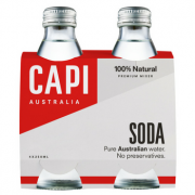 Capi Soda Water 6 X 4PK 250ml Glass - Capi-Soda-4-pack-CP73-2-180x180