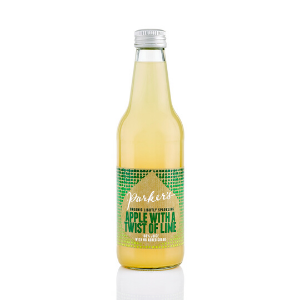 Parkers Organic Lightly Sparkling Apple and Lime 330ml 12Pk - Parkers-Organic-Sparkling-Apple-and-Lime-1