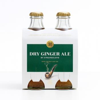 StrangeLove Dry Ginger Ale 6 X 4pk 180ml Glass - Strangelove-Dry-Ginger-Ale