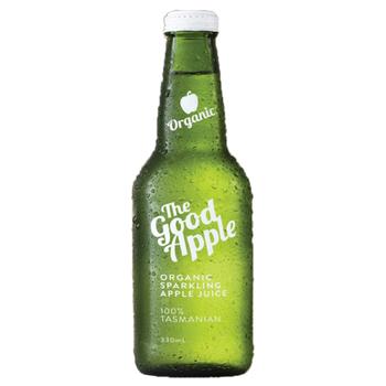 Juicy Isle Spklg Organic Apple 12 X 330ml Glass - The-Good-Apple-Sparkling