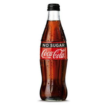 Coke No Sugar 24 X 330ml Glass - Coke-No-Sugar-Glass-Screw-Top-1