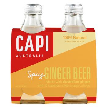 Capi Ginger Beer 6 X 4PK 250ml Glass - Capi-Ginger-Beer-4-pack-CP80