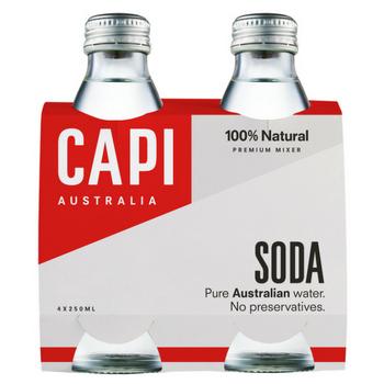 Capi Soda Water 6 X 4PK 250ml Glass - Capi-Soda-4-pack-CP73