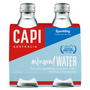 Capi Sparkling Water 6 X 4pk 250ml Glass - Capi-Sparkling-Water-4-pack-CP71