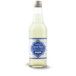 Parkers Organic Iced White Tea With Elderflower Lemon 330ml 12Pk - Parkers-Organic-Iced-White-Tea-with-Elderflower