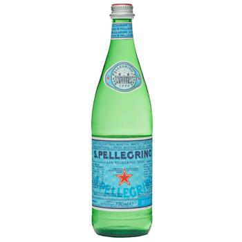 S.Pellegrino Sparkling 12 X 750ml Glass - San-P-750m-Glass