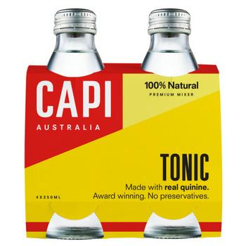 Capi Tonic Water 6 X 4PK 250ml Glass - Capi-Tonic-4-pack-CP79
