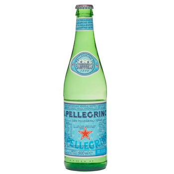 S.Pellegrino Sparkling 24 X 500ml Glass - San-P-500m-glass